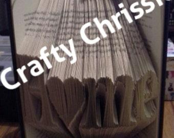 Home Folded Book Art - Book Sculpture