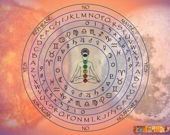 Printable Pendulum Mat - Digital Download for Your Own Pendulum Mat - Seen Elsewhere on esoTERRAca - Pendulum Dowsing Mat - Divination Tools