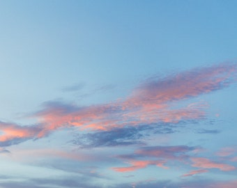 Sky Photography, Cloud Photography, Sunset Print, Film Style, Wall Decor, Abstract Print, Minimal Photography, Fine Art Photography