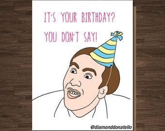 Nicolas Cage Birthday Card