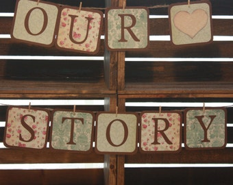 "Custom Wedding ""Our Story"" Banner"