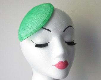 Light Green Teardrop Hat Base / Hat Base / Sinamay hat base / Fascinator Base / DIY Fascinator