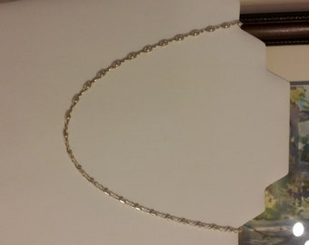 """SALE!!  18"""" SOLID Sterling Silver fancy link """"Eye & 8"""" Chain with fancy spring ring clasp"""