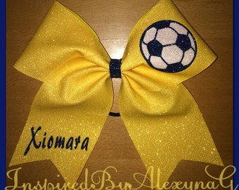 Cheer Style Soccer Bow