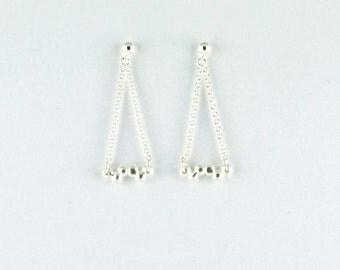 """Silver earrings """"Alice"""""""