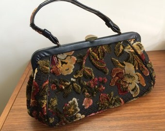 Vintage 1950-60's tapestry purse