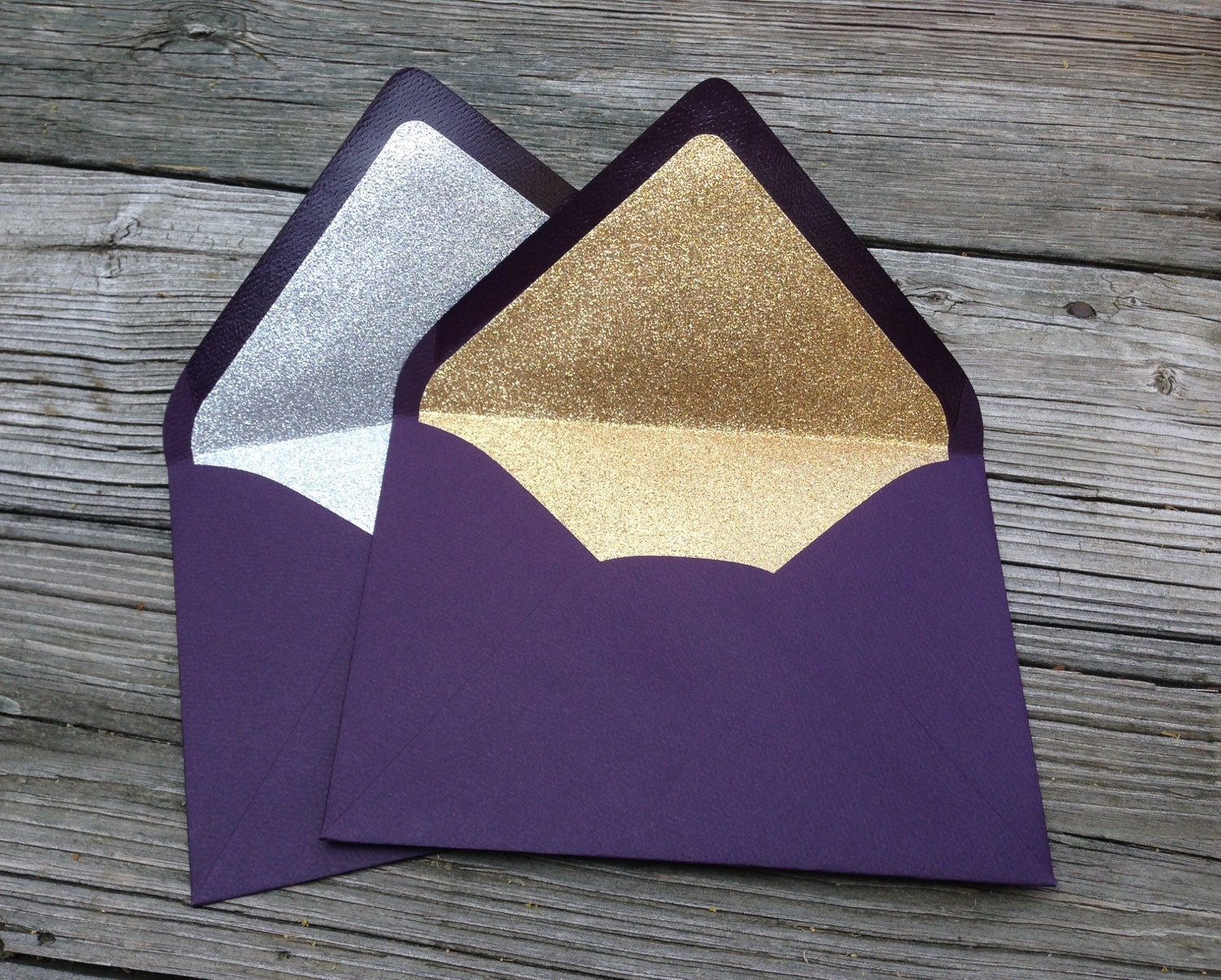 aubergine dark purple pink a7 5x7 gold or silver by