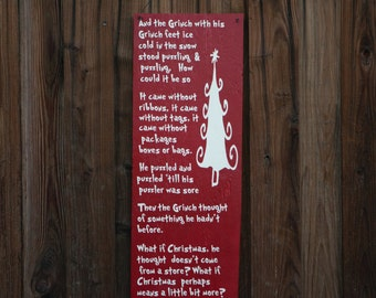 Grinch Sign, Dr Seuss Christmas Sign, Custom Wood Sign, Rustic Wood Sign