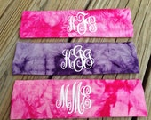 Monogram Headbands ~ Tie Dye