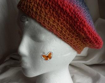 Red, Orange, Grey Wool Slouch Hat