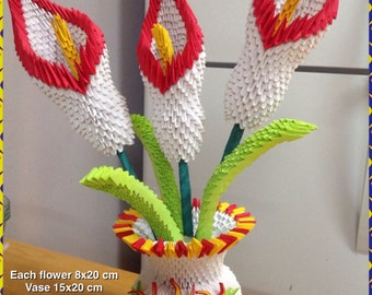 Owl bride groom 3d origami engagement decoration 3d origami lily vase lily origami flower paper decoration mightylinksfo