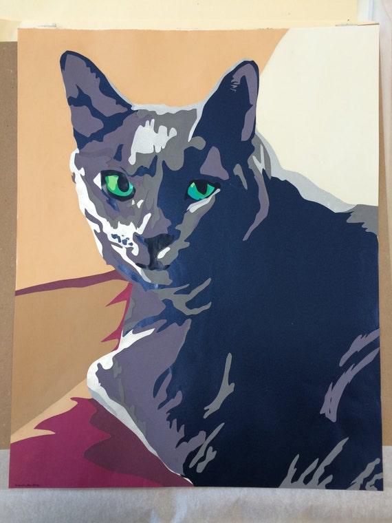 Medium Custom Cat Portrait Collage