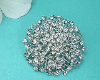 Rhinestone Brooch, Wedding Brooch, Bridal Brooch, wedding brooches, wedding dress pin, bridal dress brooch, wedding bridal pin 221480854