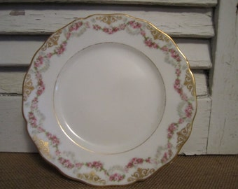 Vintage L. Bernardaud and  Co.   D and  C   France  Limoges plate
