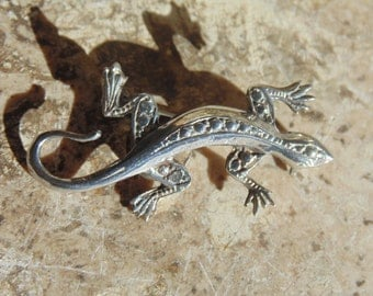 Maria Pineda ~ 970 Silver Lizard / Gecko Brooch