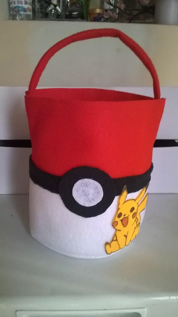 Items similar to pokemon inspired easter basket on etsy negle Images