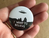"""1.5"""" X-Files Button! Set of 3!"""