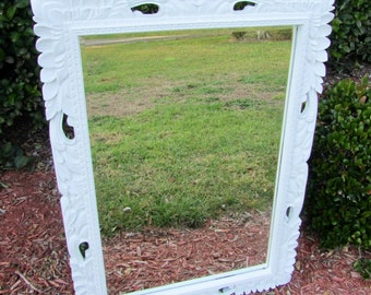 Shabby chic mirror, very large mirror, ornate mirror,antique mirror, shabby chic decor,wedding. Rococo style mirror,