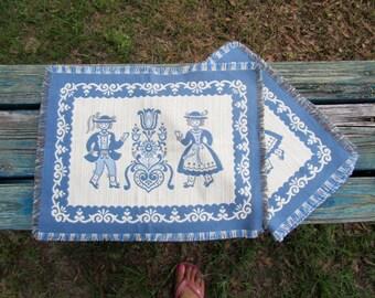 Vintage Dutch Linen Placemats / Placemats / Austria