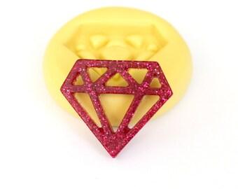 Diamond Mold Mould Resin Clay Fondant Wax Soap Fimo Flexible Silicone Mold