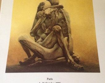 Zdzislaw Beksinski super rare print, Paris 1985