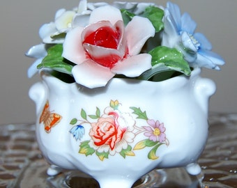 Porcelain Flowers Cascade Bowl  by Aynsley China Co.