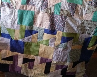 Crazy twin size Quilt