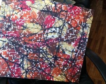 Batik picture of leaves