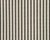 Waverly Timeless Ticking - Black / Cream Fabric -  by the Yard