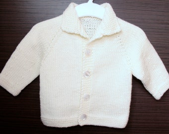 Baby Cardigan with collar, sweater jacket, baby jacket, baby jacket