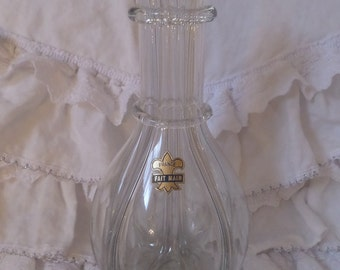 Fabulous Antique French Glass 4 Chamber Bottle Fait Main France Collectible Decanter