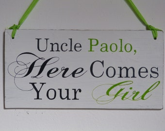 custom made wedding shabby chic sign