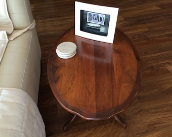 American Walnut end table, coffee table, parlor table, side table, walnut table