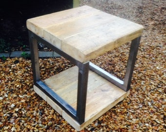 Industrial Mill Reclaimed Wood Side Table