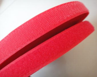 3/4'' Red Velcro Tape Sew on Hook and Loop Fastener Tape 23Colors