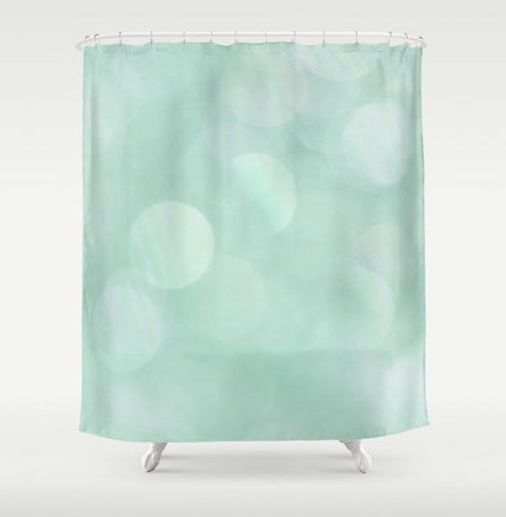 Bathroom Art Minted: Mint Shower Curtain-71x74-Whimsical Bathroom By