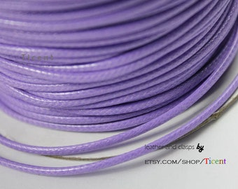 Sale 15 Yards 2mm Light Purple Wax Cords, Environmental Protection Wax Cords WS206