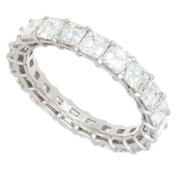 3.50ct Asscher Cut Diamond Eternity Band by JacobKJewelry ...