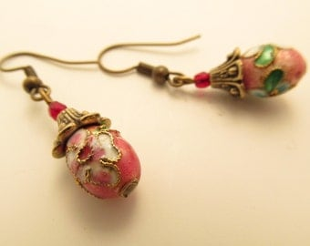 3876  -  Chinese Pearls Partitioned Earrings