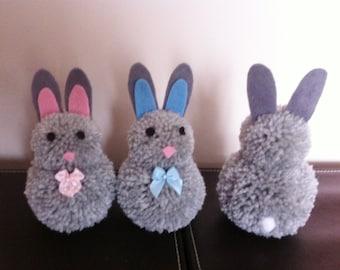Pompom bunny easter bunny decoration