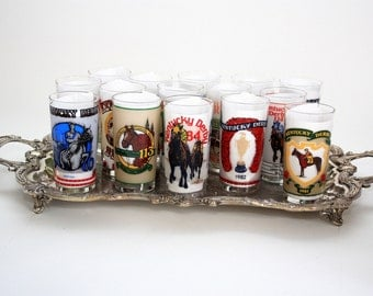 Vintage Kentucky Derby Glasses - Collection of 15 from 1976 thru 1990