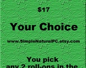 Essential Oil Roll-Ons - Pick Any 2 Roll-Ons - Your Choice