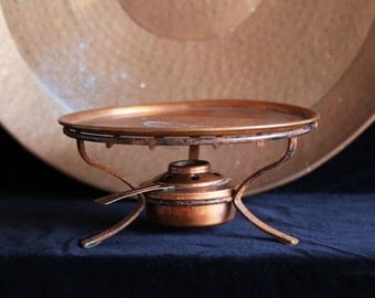 Swiss Copper plate & copper fondue burner