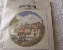 """Cross stitch kit,  """"Morning Delivery, """" by John Clayton,  14 count aida,   DMC cottons, complete kit, full instructions, all charts"""