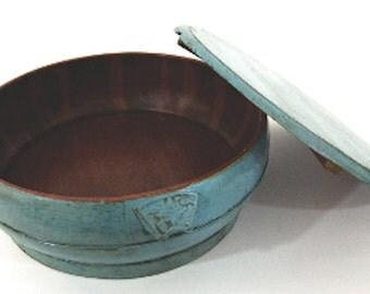 Blue Antique Rice Tub