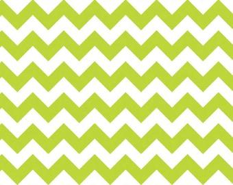Riley Blake Small Chevron Lime Green 100% cotton