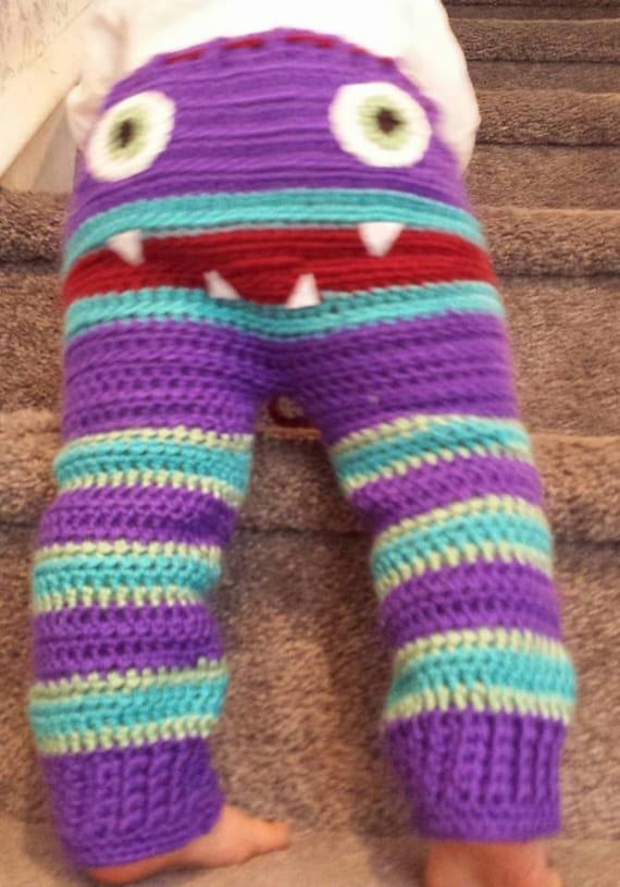 Crocheted Monster Pants trendy spring pants by KAKcrochet ...