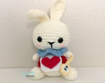 Crochet White Rabbit Amigurumi Doll from Alice in Wonderland