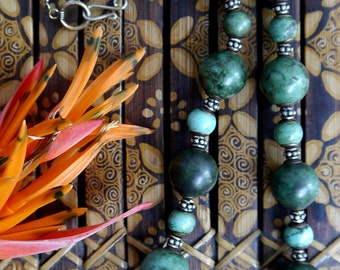 Old, Vintage Chinese Turquoise Beaded Necklace
