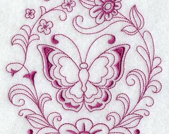 Spring Butterfly Embroidered KitchenTowel -Butterfly embroidered  towel- Spring towel - Butterfly decor